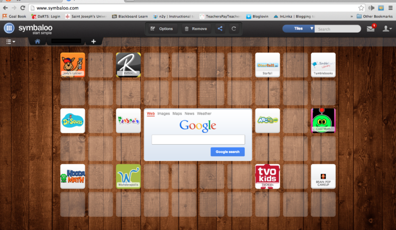 Sharing What Works: Symbaloo