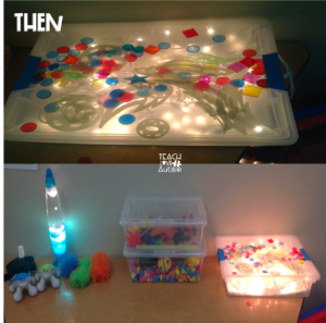 In the top picture you see the light box that was homemade and I created this pretty simply. I actually wrote a blog post about it HERE.