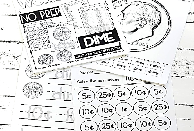 Materials that Work: Counting Coins Worksheets
